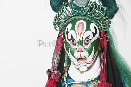 portrait of a male chinese opera