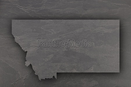 map of montana on dark slate