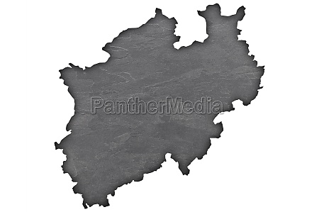 map of north rhine westphalia on