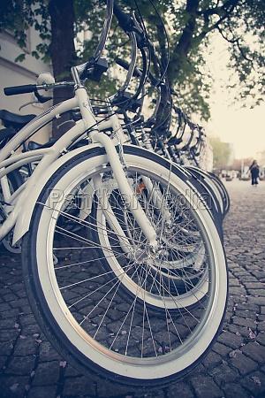 renting bikes parking bikes for exploring