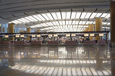 interiors of an airport