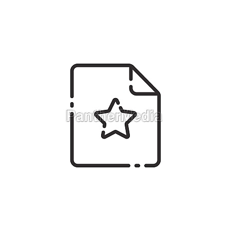 document thin line icon paper with