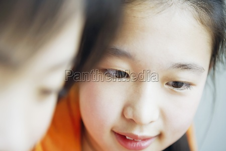 close up of two girls