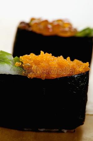 close up of caviars