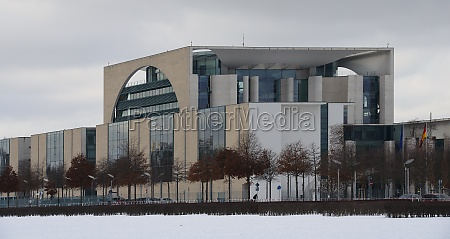 chancellery in berlin with snow