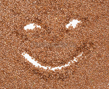 texture of dry brown flax seeds