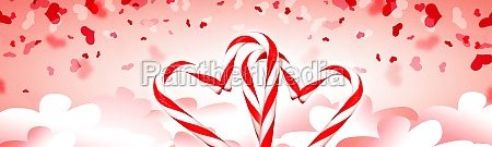 happy valentines day background with heaven