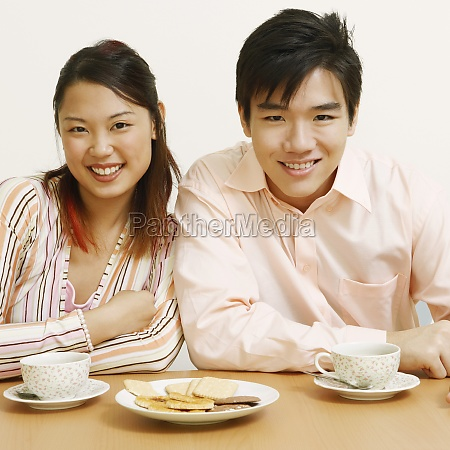 portrait of a young couple sitting