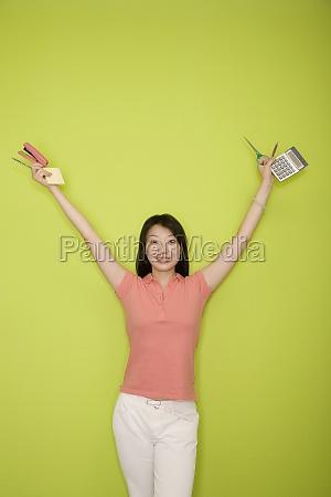 portrait of a female office worker