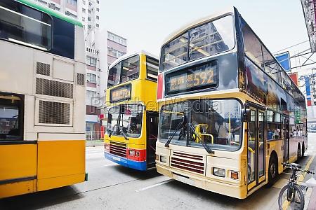 buses on the road hong kong