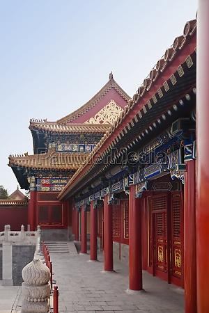 colonnade in a building forbidden city