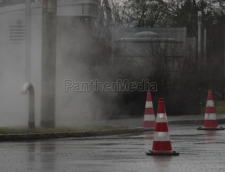 pylon as floor marking or road