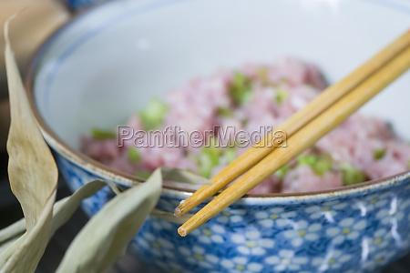 close up of chopsticks on a