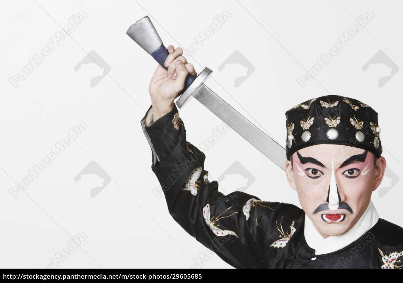 portrait, of, a, male, chinese, opera - 29605685