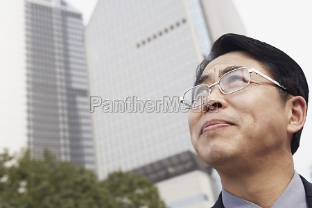 low angle view of a businessman