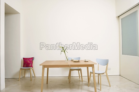 table and chairs in a room