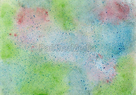 watercolor painting with color blots in