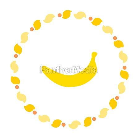banana and wreath