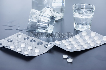 drug abuse close up of pills