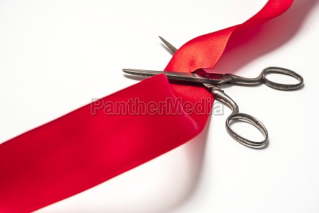 studio shot of old fashioned scissors