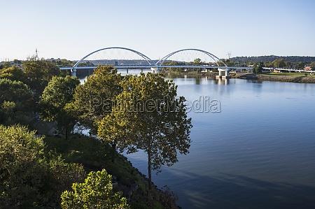 usa arkansas little rock bridge over