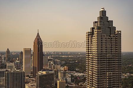 usa georgia atlanta downtown skyscrapers at
