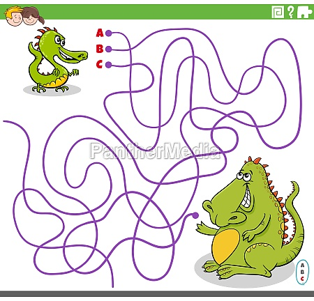 educational maze game with cartoon baby