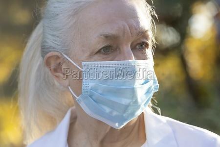 portrait of senior female medical staff
