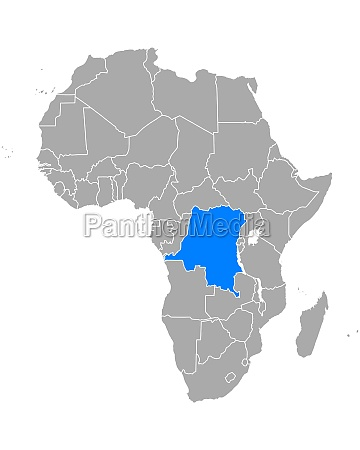 map of democratic republic of the