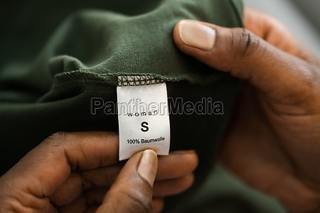 shirt size clothes label symbol
