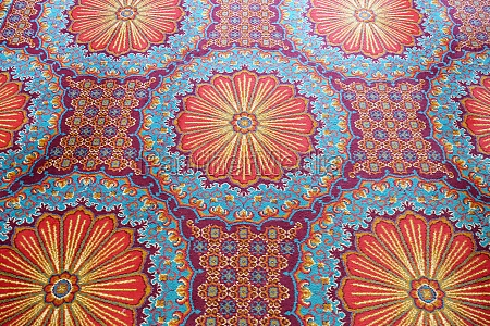 carpet from wool and silk of