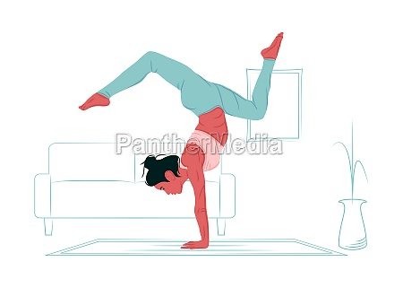 vector yoga in shadow of sharp