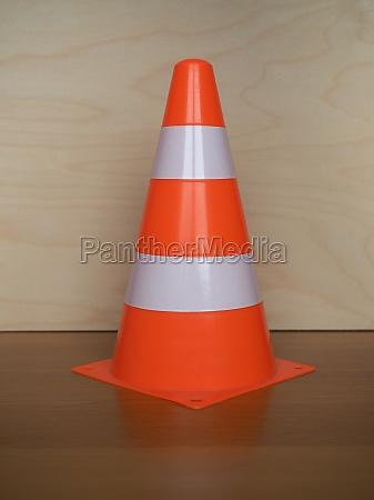 traffic cone sign