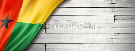 guinea bissau flag on old white