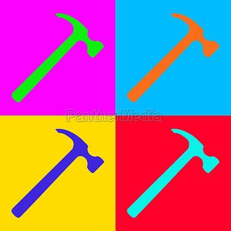 hammer and pop art