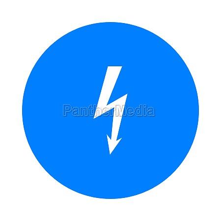 lightning and circle