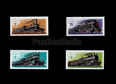 stamps printed in ussr of different