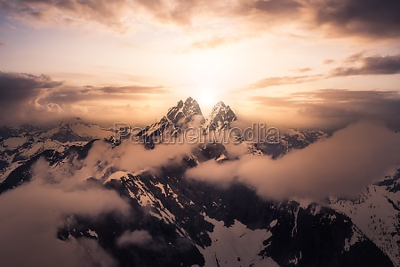 dramatic artwork aerial landscape view of