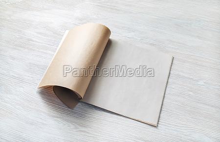 blank magazine template