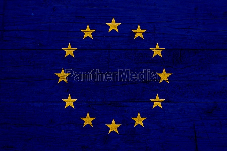 flag of european union wooden texture