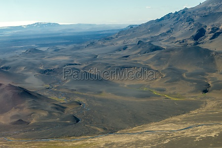 icelandic landscape aerial photography captured from