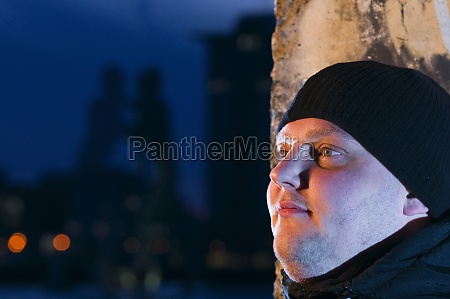 man look in the night