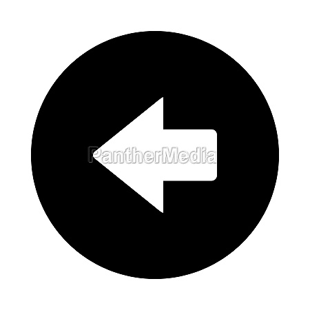 left arrow and circle