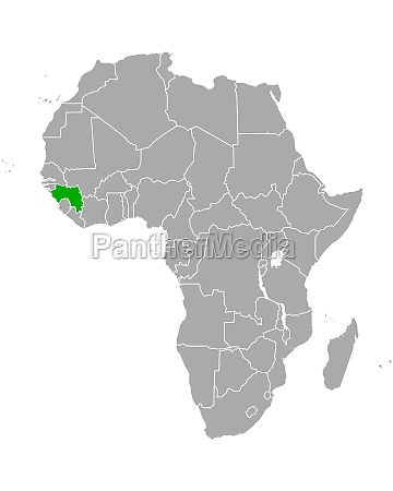 map of guinea in africa