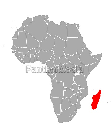 map of madagascar in africa