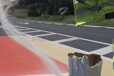floor marking or road marking