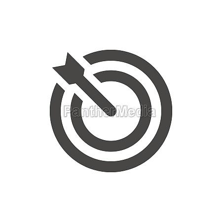 arrow with darts target black icon