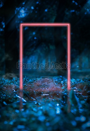glowing red frame made of glowing