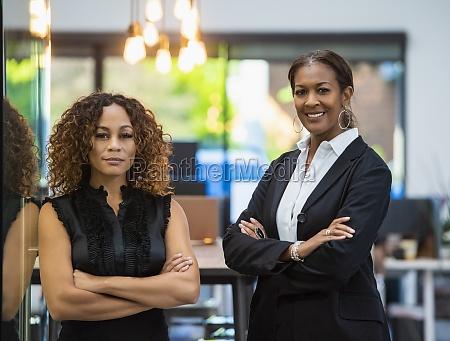 portrait of two business women in