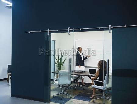 business women meeting in office